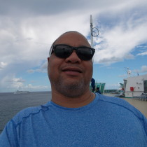Picture of Me on deck of cruise ship